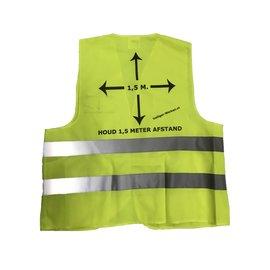 Veiligheidshesje 'houd 1,5m afstand'