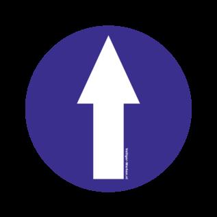 Vloersticker Looprichting