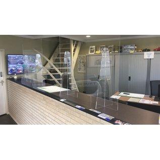 Plexiglas Balie scherm met opening 120*100
