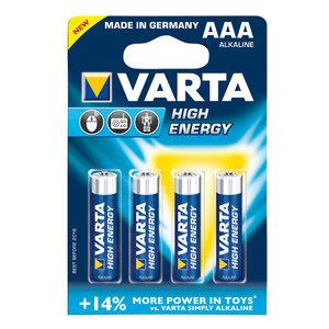 Varta Varta High Energy alkaline AAA/LR03 1.5 V 4-blister