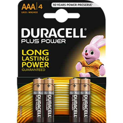 Duracell Duracell Plus Power MN1200 AAA/LR03 1.5V 4-blister