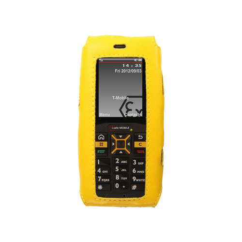 i.safe Mobile i.safe-MOBILE  leather case for Advantage 1.0 - Yellow