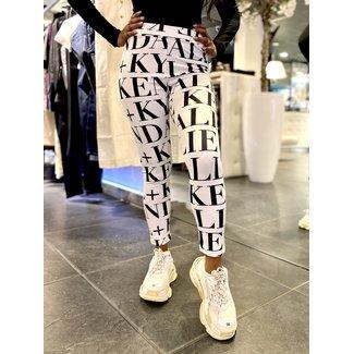 Kendall & Kylie CHIARAS PRINT LEGGING WHITE