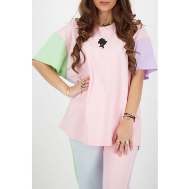 Reinders T-SHIRT OVERSIZED PASTEL S/S BABY PINK