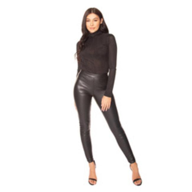 L.A Sisters LAS-1227 Faux Leather Legging