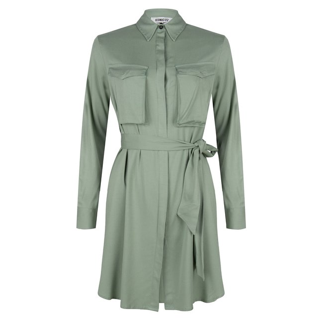 ICONIC 27 BLOUSE/DRESS POCKETS GREEN