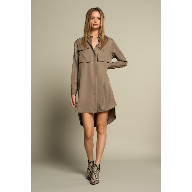 ICONIC 27 BLOUSE/DRESS TAUPE