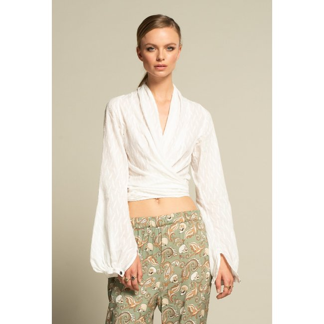 ICONIC 27 KNOT BLOUSE WHITE