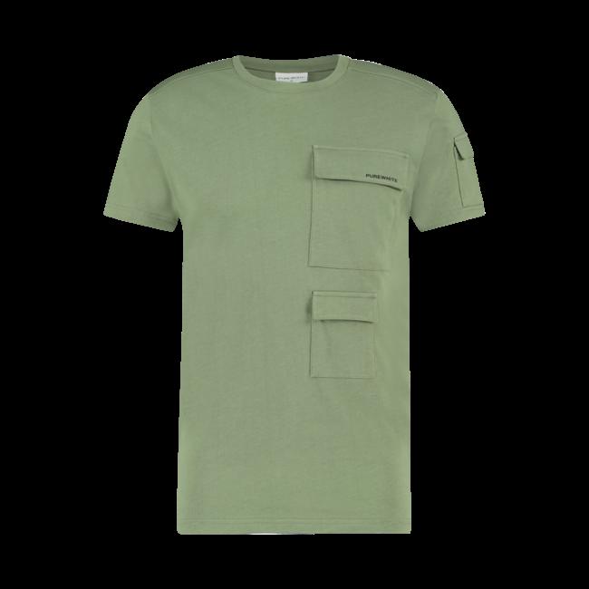 Pure White Utility Pocket T-shirt Army