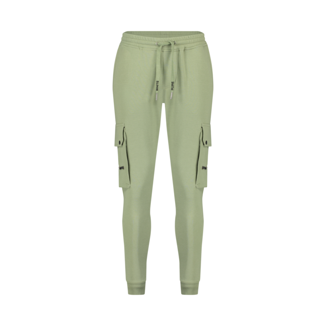 Pure White Utility Pocket Sweatpants Light Army