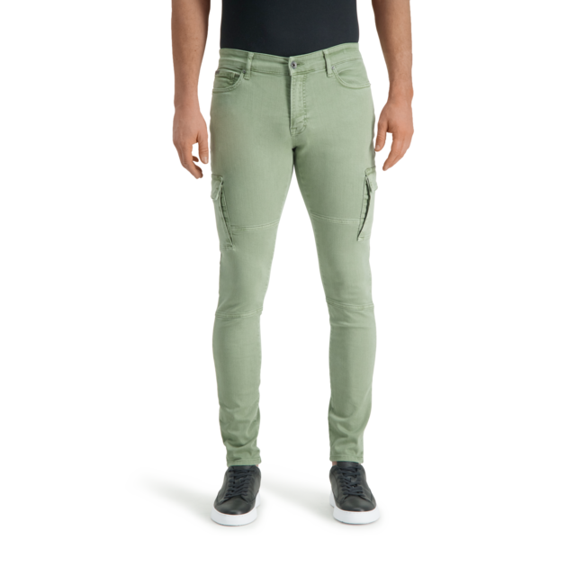 Pure White GARGO PANTS The Jone Cargo 652 Army
