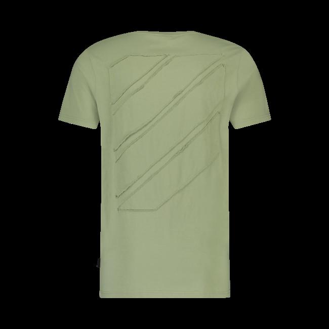 Pure White Side Logo T-shirt Army