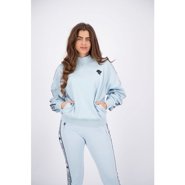Reinders TRACKING SWEATER W605 BABY BLUE