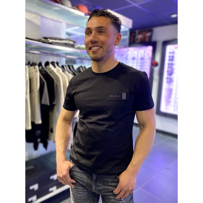 Antony Morato T-SHIRT WITH POCKET MMKS01910 BLACK
