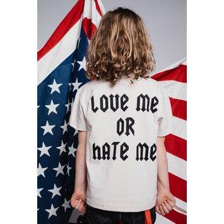 AH6 T-SHIRT LOVE ME OR HATE ME KIDS BEIGE