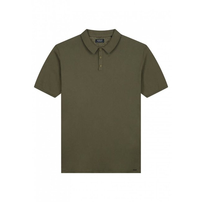 Dstrezzed POLO S/S 405378 COTTON KNIT ARMY GREEN