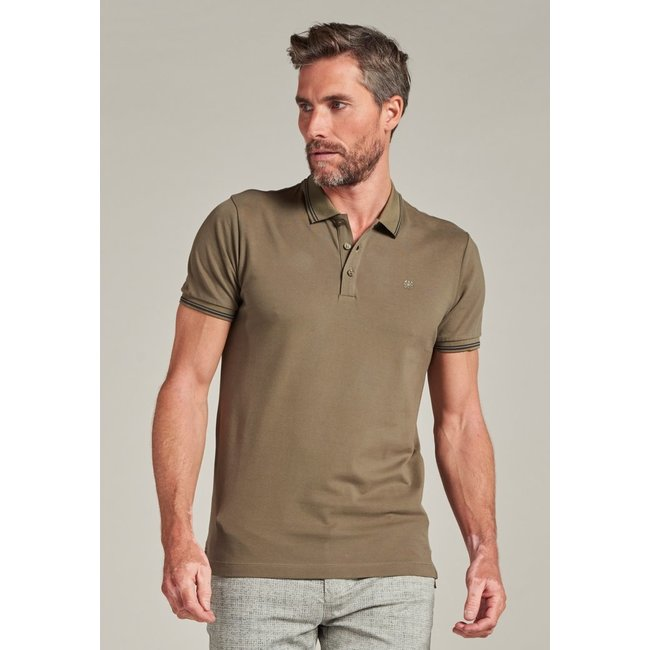 Dstrezzed POLO S/S 202646 CLEAN PIQUE ARMY GREEN