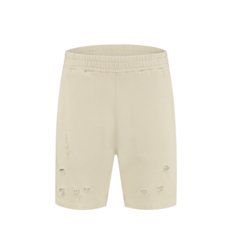Pure White SHORT DESTROYED 21010520 SAND