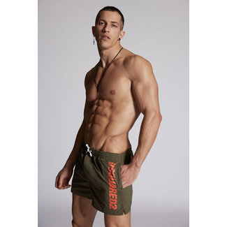 Dsquared2 Swimshort Army Green/Orange