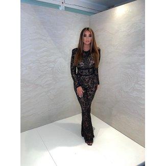 Unique the Label Avery Lace Jumpsuit Black