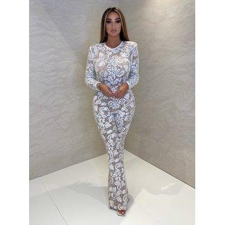 Unique the Label Avery Lace Jumpsuit White