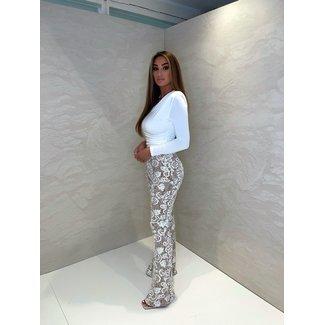 Unique the Label Avery Lace Pants White