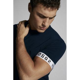 Dsquared2 DSQ2 Logo Sleeve  T-shirt Navy