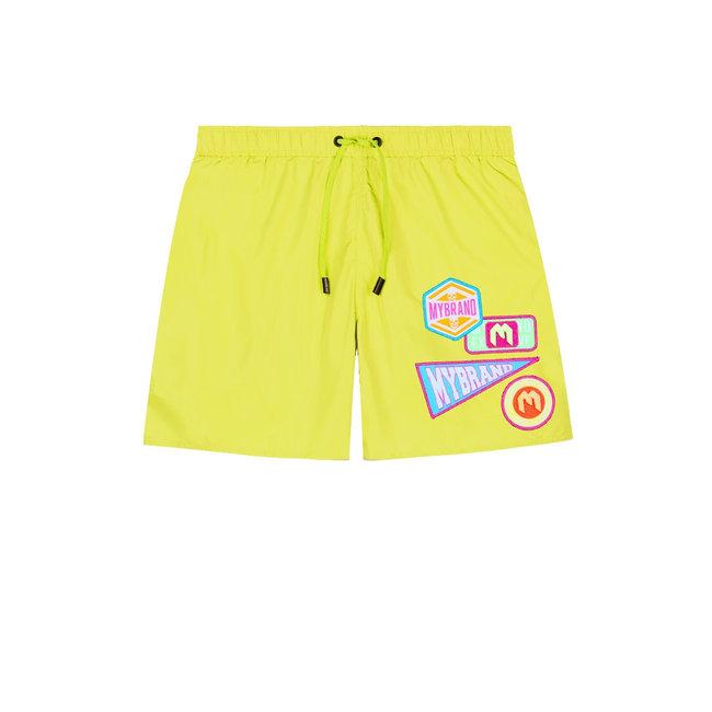 My Brand MB Badges Swimshort Neon Yellow