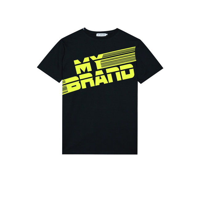 My Brand MB Stripes T-shirt Black/Neon Yellow