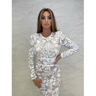 Unique the Label Avery Lace Dress White