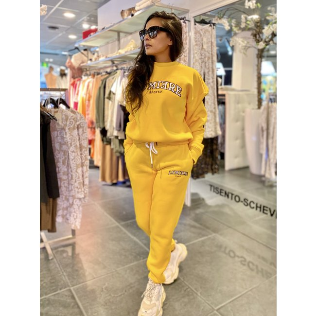 Lumiere TRACKSUIT NANTES YELLOW (2-DELIG)
