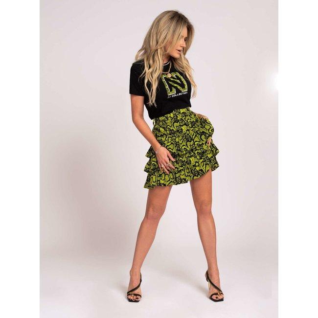Nikkie SNAKEY SKIRT N3-176 2104 POISON GREEN
