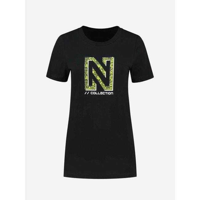 Nikkie SNAKEY N LOGO T-SHIRT N6-144 2104 BLACK