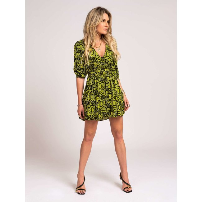 Nikkie SNAKEY DRESS N5-140 2104 POISON GREEN