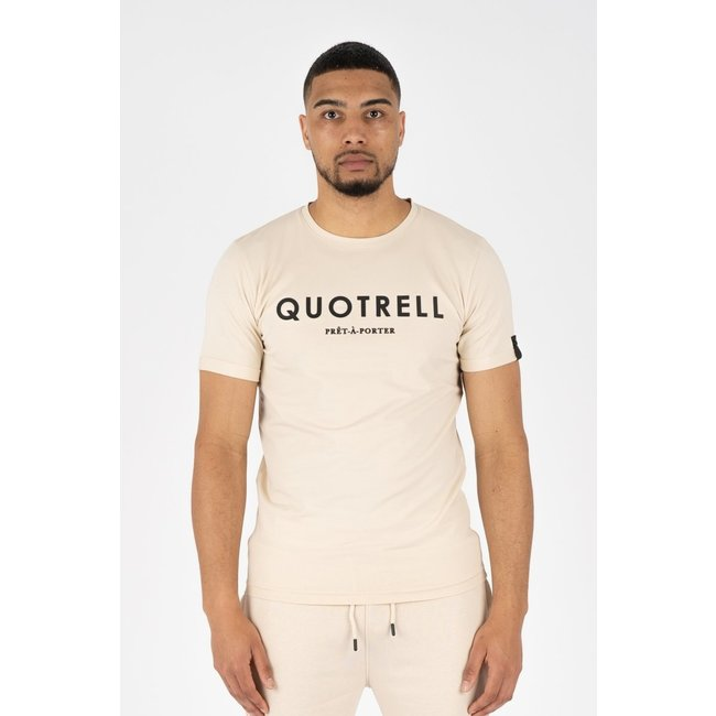 Quotrell BASIC T-SHIRT BEIGE