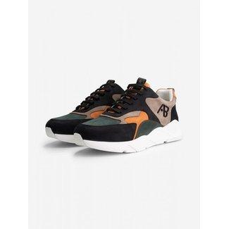 AB Lifestyle Sneakers 2101019 Black/Green/Orange