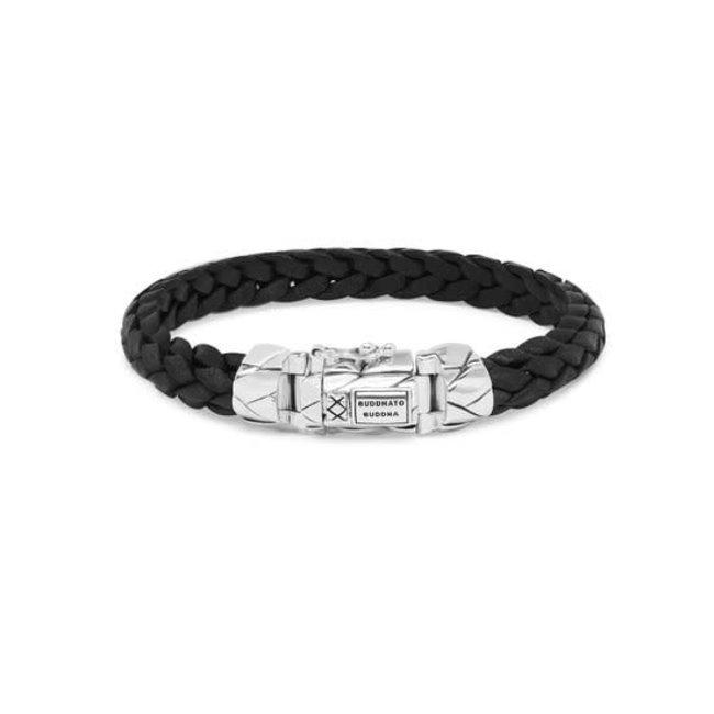 Buddha to Buddha 126BL - Mangky Small Leather Bracelet Black
