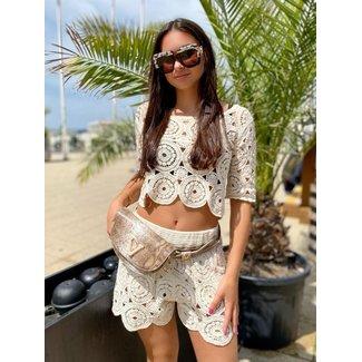 MOMO Fashion Assisi Boho Set Creme (One Size)