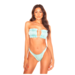 L.A Sisters OLD SCHOOL BANDEAUBIKINI MET RUCHES BLUE