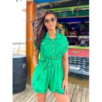 MOMO Fashion Lenola Jumpsuit Green (One Size)