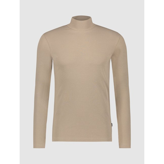 Pure White 21030110 TURTLE NECK LONG SLEEVE TAUPE