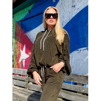 MOMO Fashion JOGGING SUIT ROMA ARMY 2-PIECE (ONE SIZE)
