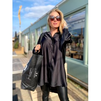MOMO Fashion BLOUSE DRESS SIENNA BLACK (ONE SIZE)