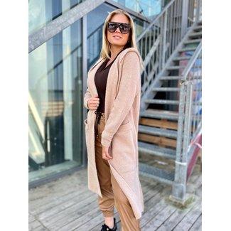 MOMO Fashion HOODED VEST SAND ( ONE SIZE )