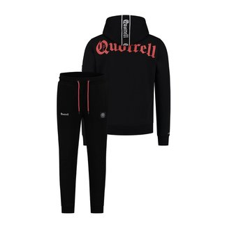 Quotrell COMMODORE SET HOODIE + PANTS BLACK