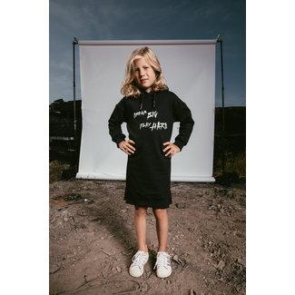AH6 HOODY DRESS KIDS DREAM BIG BLACK