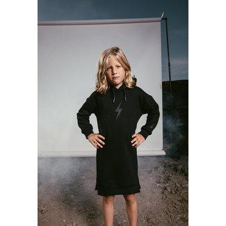AH6 HOODY DRESS KIDS  ROCKSTAR BLACK
