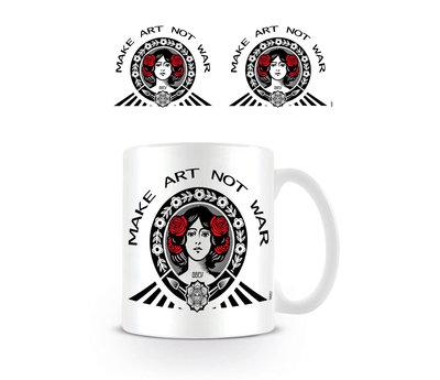 Make Art Not War Red Black White - Mok