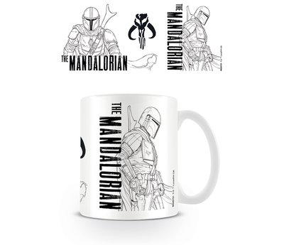 Star Wars The Mandalorian Line Art Mok