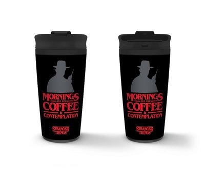 Stranger Things Coffee And Contemplation Metal Travel Mug